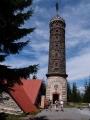 Ta je dominantou malebného okresního městečka Jeseník spolu s Priessnitzovými lázněmi. Jmenuje se Zlatý chlum (875 m) a je 26m vysoká a kamenná. Historie  věže spadá až do dalekého 19. století. Popud ke stavbě vzešel od tehdejší Frývaldovské pobočky turistického spolku. Mezi zakladateli můžeme nalézt zetě světově proslulého léčitele Vinzenze Priessnitze.