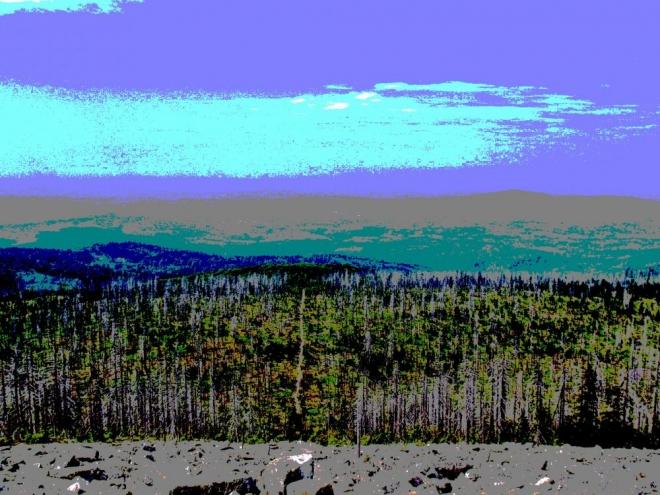 Až do dálných dunajských nížin vedou cesty z vrcholu Luzného.