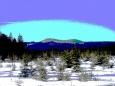 Nad Filipovou Hutí slibuje výhled příjemnou projížďku na běžkách k Březníku, na Černou horu, či na Modravu.