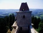 S postupujícím čaesm však hrad přestal plnit své původní poslání a roku 1584 započala královská komora zdejší panství rozprodávat. Jeho zbytky pronajímal městu Kašperské Hory a v roce 1614 císař a král Matyáš pronajal městu i samotný hrad. V roce 1616 či 1617 hrad, který byl až dosud vždy hradem královským, kašperskohorským prodal. V té době byl Kašperk již značně sešlý a ani zamýšlené opravy jej nemohly uvést do původního stavu. To jej možná uchránilo před úplným zbořením, které vojenská kancelář císaře a krále Ferdinanda III. v roce 1655 nařídila provést na většině pohraničních hradech v Čechách ze strachu, aby se nestaly útočištěm nepřátel moci habsburské dynastie. Na druhou stranu se však městští zastupitelé necítili povinni se o hrad dále starat a tak ho s klidem nechali chátrat, neboť pro ně bylo zajímavé pouze panství s hradem spojené.