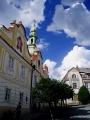 Radnice v Kašperských Horách byl původně renesanční dům, ve kterém bydlel zástavní držitel hradu Kašperka, tajemník krále Ferdinanda I., královský rada a místokancléř českého království, Jiří z Lokšan.Dům si v roce 1551 koupili měšťané a už před rokem 1597 jej upravili na radnici. Na konci 17. století bylo průčelí spojeno třemi barokními štíty a doplněno hodinovou vížkou.