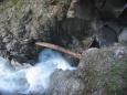 Řeka Großarler Ache v soutěsce Liechtensteinklamm