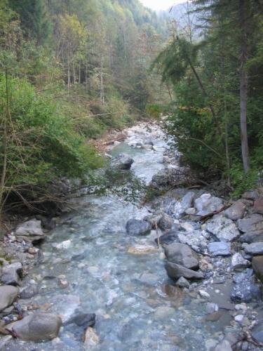 Řeka Großarler Ache, zde působí docela nevinně