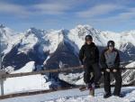 Vrcholovka opět na neznámém vrcholu v Klausbergu. Tentokrát jsme museli vystoupat 20 metrů prudkého kopce, abychom měli tak krásný rozhled.
