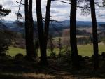 Výhled k Churáňovu okrajem lesa.