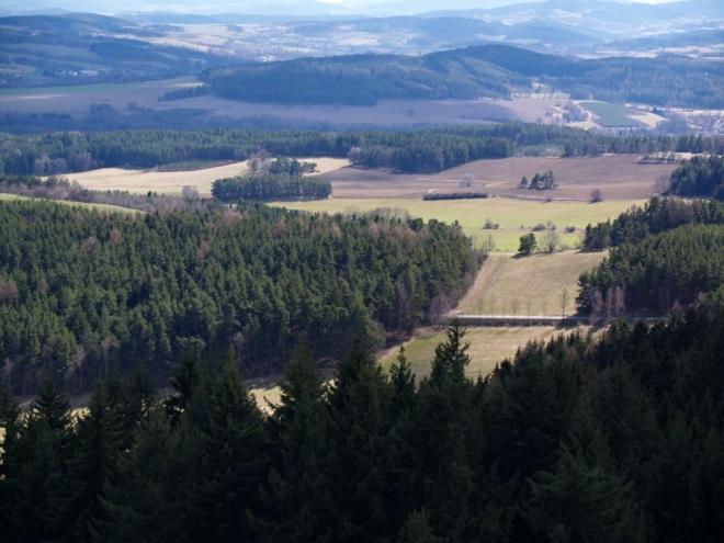 Krajina jižních Čech.