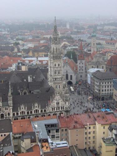 Marienplatz z výšky