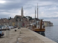 První zastávkou, kde jsme vystoupili z naší výletní lodě, byl Rovinj s dominantní bazilikou svatého Euphemia.