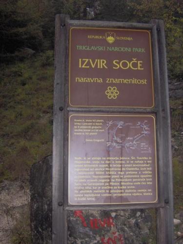 Informační tabule ve slovinštině, ale dá se luštit celkem dobře.
