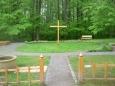 Zblízka meditační zahrada