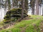 Projdeme lesem odkud je vrchol již v dohledu. Naši mají tlak, ale ne a ne vyrovnat.