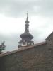 Pohled na špičku kostela