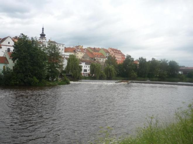 Pohled na Otavu a část města