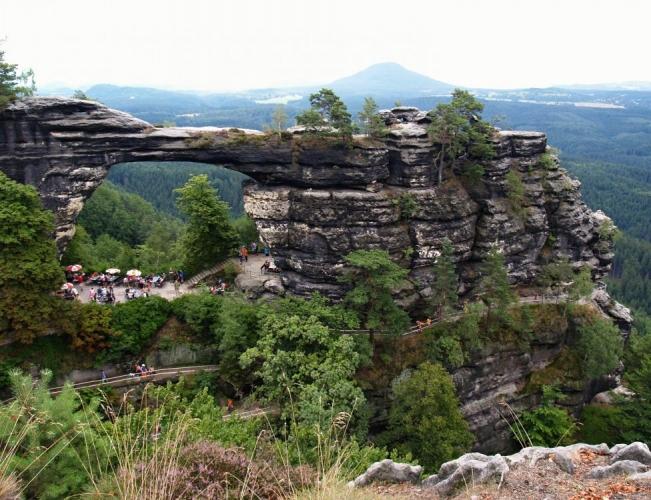 Pravčická brána a Růžovský vrch