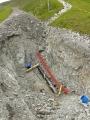 Potrubí se kope i v cca 2500 metrech nad mořem.
