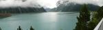 Další den ráno u přehrady Schlegeis, kolem 1800 metrů nad mořem.