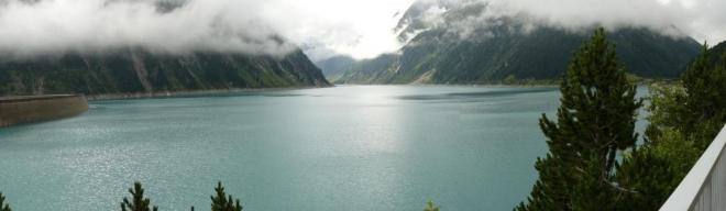 Další den ráno u přehrady Schlegeis