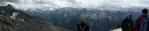 Panorama ze sedla pod Ahornem.