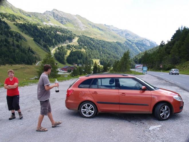 V alpském sedle Obertauern, Rakousko.