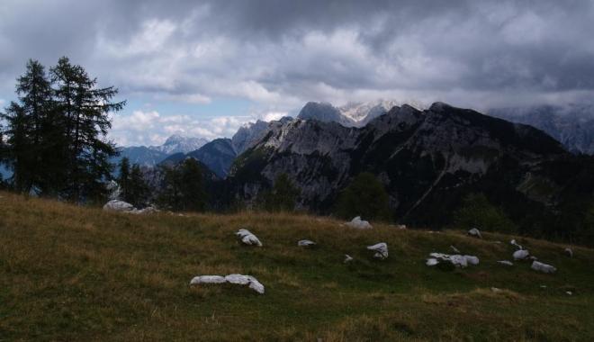 Kotova špice přes planinu nad Sleme.