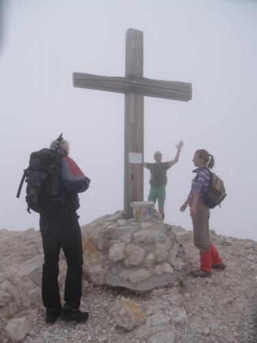 Kanin 2 587m, pro Lukáše st. výškový rekord.
