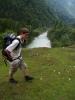 Výhledová část cesty, které se tady jmenují Soška Pot. Pravda potu jsme ve zdejších horách zanechali všichni dost.