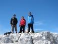 Ve výšce kolem 2 450m jsme již na hřebenu nedaleko vrcholu Kanin.