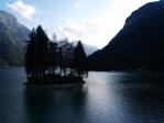 Jezero Predil je již v Itálii