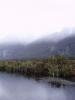 Mirror lakes, bohužel hory vidět nejsou