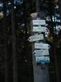 Jen kousek výš je rozcestí turistických značek mířících na jedné straně do Netolic, na opačné do Kuklova a Brlohu, a také na vrchol Kluku.