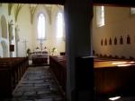 Kostel Sv. Tomáše je gotický a byl postaven v polovině 14. století. V první polovině 16. století byl potom přestavěn na pozdně gotickýa později opraven portál s průčelím na novogotický.Nnově byl obnoven z příspěvků z obou stran hranic.