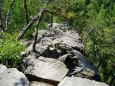 Cestou nemůžeme jen tak minout Čertovu stěnu, kamenné moře nad kaňonem řeky Vltavy.