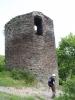 Rabštejn nad Střelou - věž gotického hradu.