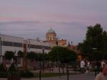 Bazilika v Ostřihomi ze Štúrova v barvách večerních.