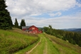Červená bouda patří k Richterovým Boudám, ty byly ale v době našeho pobytu poloprázdné.