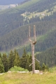 Pohled k Hnědému vrchu, na který vede z Pece lanovka využitelná i v létě.