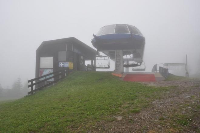 Horní stanice Planiny nám ušetří výstup na hřebeny hor.
