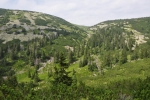 Stříbrná bystřina je pravostranný přítok Bílého Labe v horní části doliny. Jsme konečně nahoře.