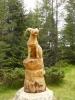 Dřevěná socha kozoroha