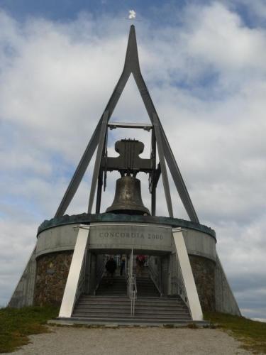 Zvon na vrcholu Kronplatzu