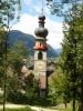 Věž kostela v Brunecku