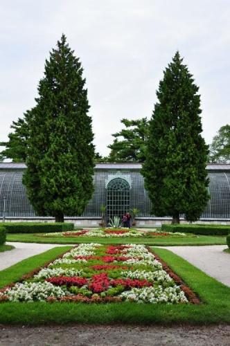 Zahrady u botanického skleníku.