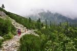 Před Popradským plesem podcházíme vrchol Patrie (2 203m).