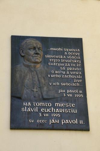 Zde sloužil mši Jan Pavel II.