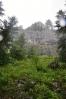 Začíná zesilovat désť a tak jediná fotka zpět k vrcholu Ohniště trpí vlhkem.