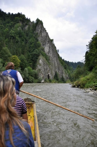 Vjíždíme do průlomu Dunajce.