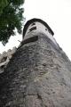 Druhá strážní věž z hlubokého podhledu.