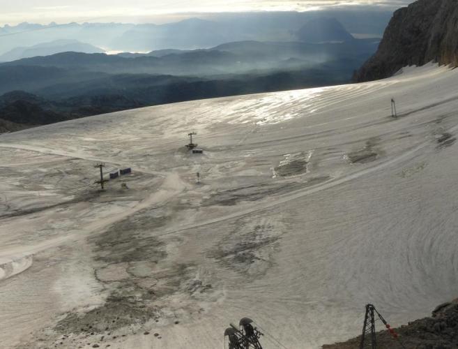 Zdánlivě hladký Schladmingerský ledovec