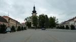Náměstí v Novém Městě na Moravě, kousek za hranicíc Čech a Moravy (Tom)