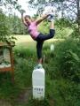 Gymnastická chvilka než se vydáme k nejvýchodnějšímu bodu (Tom)